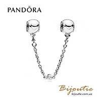 Pandora защитная цепочка РЕЛЬЕФНЫЕ СЕРДЦА #796269CZ серебро 925 Пандора оригинал