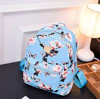 Рюкзачок детский с цветами Синий