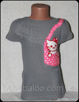 Туника вязанная для девочки (от 1 до 3 лет), фото 2