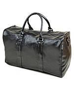Мужская дорожная сумка из искусственной кожи черная на одно отделение dr.Bond 88650-2 black