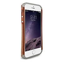 Чохол-бампер ELEMENT Case для iPhone 6/6S Ronin ser. Дерево+метал Коричневий