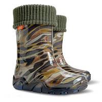 Гумові чобітки (резиновые сапоги) Demar Мозаїка зелена
