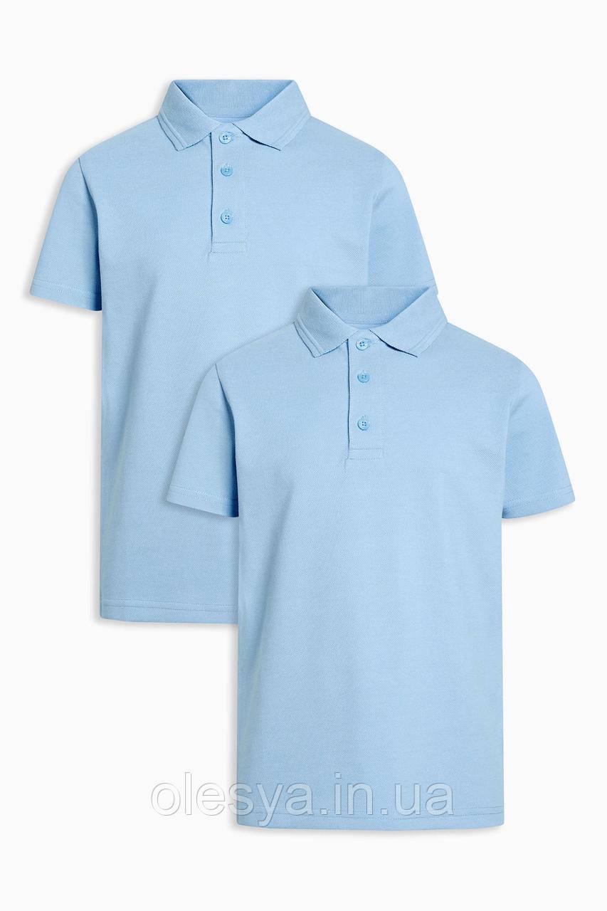Школьная рубашка поло Некст на мальчика Хлопок Размер 6 лет Голубой