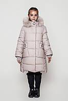 Пальто детское зимнее Энди на девочку на тинсулейте размеры 128- 158 Бежевый
