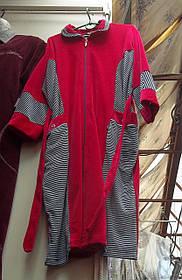 Велюровый  женский халат Батал