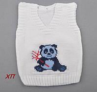 """Вязанная жилетка для мальчика """"Панда"""" Турция на 1, 3 года, фото 1"""