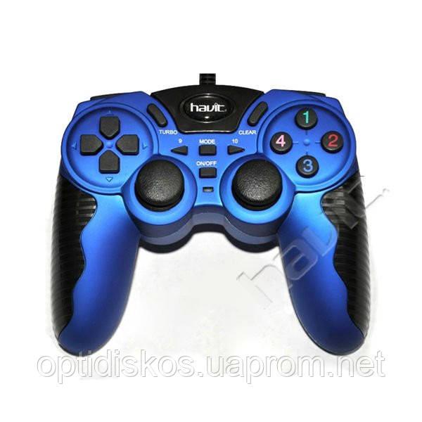 Игровой Манипулятор Gamepad HAVIT HV-G82 USB, синий