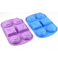 Форма силиконовая для выпечки и желе 6в1, Подарок 25,5см х 17см х 3 см