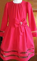 Платье бант красное р.134-152