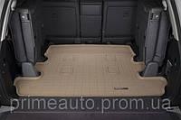 Коврик резиновый в багажник, бежевый. (WeatherTech) 7 мест - LX - Lexus - 2008