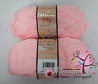 Детская пряжа Super bebe Супер бэби Нако, 2197, нежно-розовый