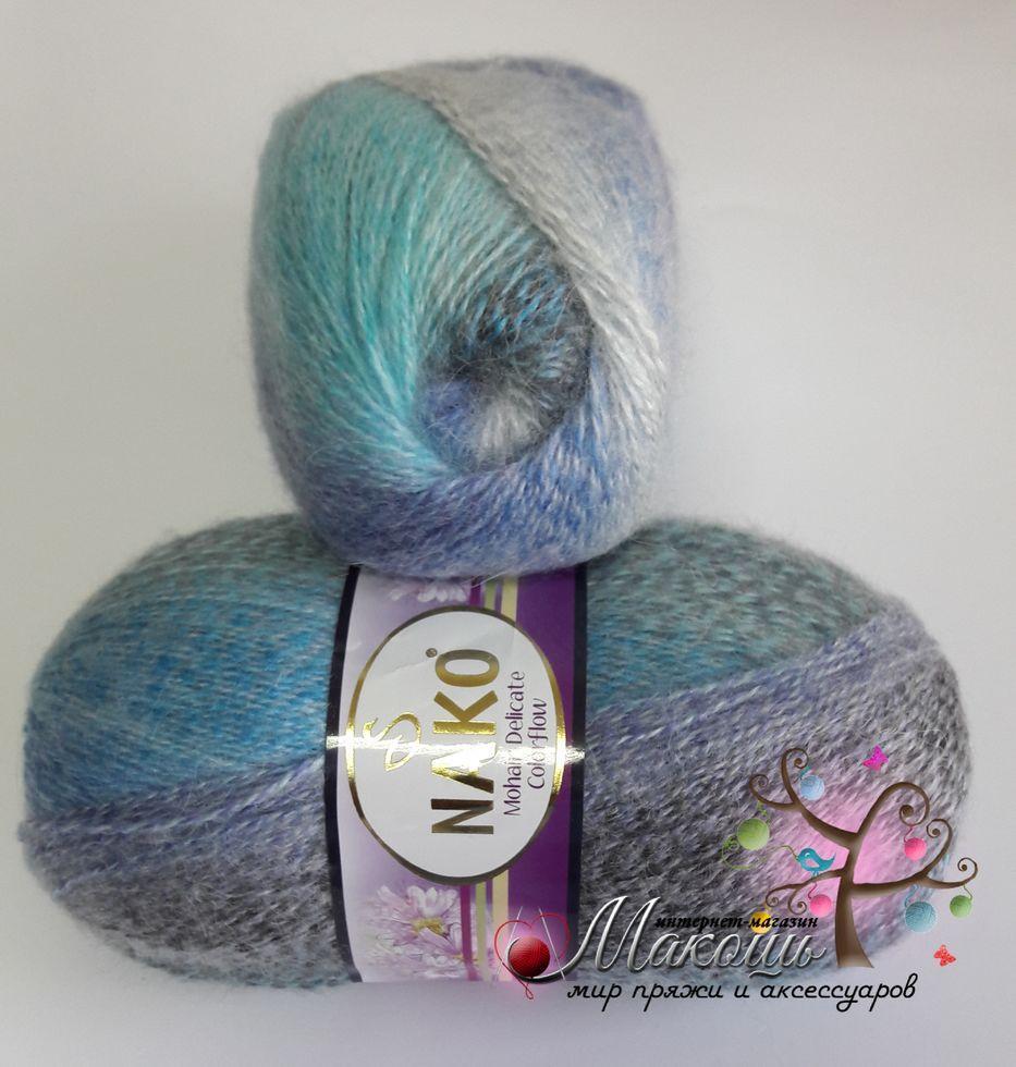 Пряжа Mohair Delicate Colorflow Nako, №28084