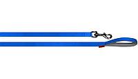 Поводок Collar Dog Extremе нейлоновый с прорезиненной ручкой, ширина 20мм, длина 122см, 43152, синий