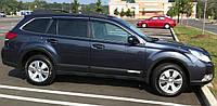 Дефлекторы окон (ветровики), с хром-молдингом, комлект. (Subaru) - Outback - Subaru - 2010