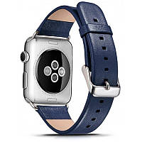 Ремінець Icarer для Apple iWatch 42mm Luxury Genuine Leather ser. Синій