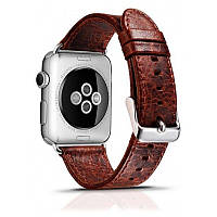 Ремінець Icarer для Apple iWatch 42mm Classic Genuine Leather ser. Темно-коричневий