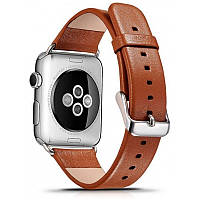 Ремінець Icarer для Apple iWatch 42mm Luxury Genuine Leather ser. Коричневий(992964)