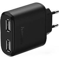 Зарядний пристрій Hama 00123585 USB Dual Charger Чорний