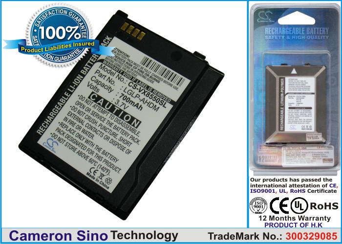 Аккумулятор LG VX-8550 Chocolate 700 mAh Cameron Sino