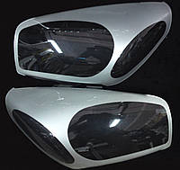 Защита передних фар, прозрачная, с серебристой окантовкой. (Toyota) - Rav 4 - Toyota - 2000