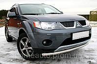 Защита передних фар, прозрачная. (Airplex) - Outlander - Mitsubishi - 2007