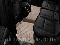 Коврики резиновые с бортиком, задние, бежевые. (WeatherTech) - Touareg - Volkswagen - 2011