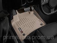 Коврики резиновые с бортиком, передние, бежевые. (WeatherTech) - Touareg - Volkswagen - 2011