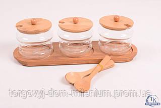 Набор для сыпучих продуктов  деревянный G240