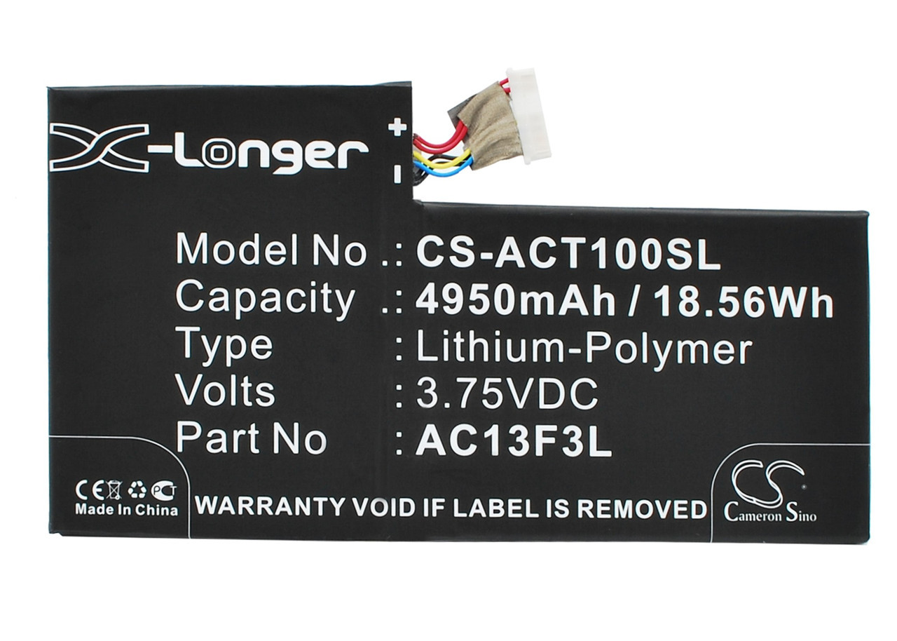 Аккумулятор Acer Iconia Tab A1-810 4950 mAh Cameron Sino