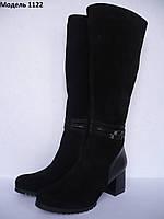 Женские сапоги из натуральной кожи, модель 1122