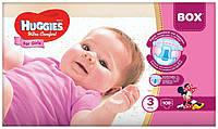 Подгузники Huggies Ultra Comfort BOX для девочек 3 (5-9кг) 108 шт.