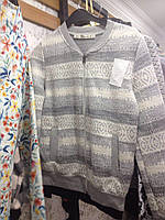 Рисунок орнамент Серая кофта с карманами на змейке Женский бомбер, размеры S M L , фото 1