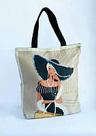 Набор для вышивки сумки ДАМА В ШЛЯПЕ