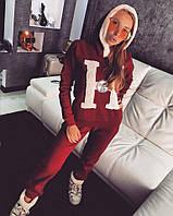 Костюм Doratti стильный повседневный утепленный на флисе кофта с капюшоном и брюки разные цвета Ddor649