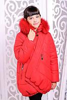 Зимняя детская  куртка для девочки Элма красная