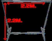 Металлоконструкция для баннера 2.2м. на 2.2м.