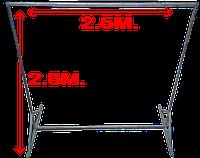 Металлоконструкция для баннера 2.5м. на 2.5м.