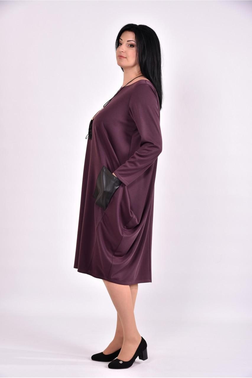 Платье черное фиолетовое