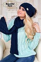 Комплект шапка и шарф  Эйфория, фото 1