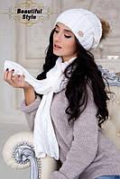 Комплект шапка и шарф  Эйфория