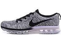 Мужские кроссовки Nike Flyknit Max 2014 Gray
