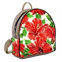 Городской  рюкзак с принтом Красные цветы