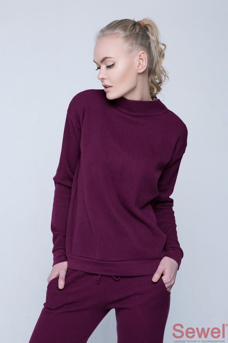 Модный женский вязаный свитер