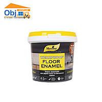 Эмаль акриловая для деревянных и бетонных полов желто-коричневая RAL8003 Maxima (0,9л)