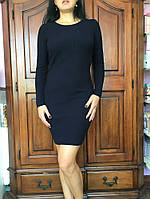 Синее вязаное платье, 38-46 р-ры, 350/320 (цена за 1 шт. + 30 гр.)