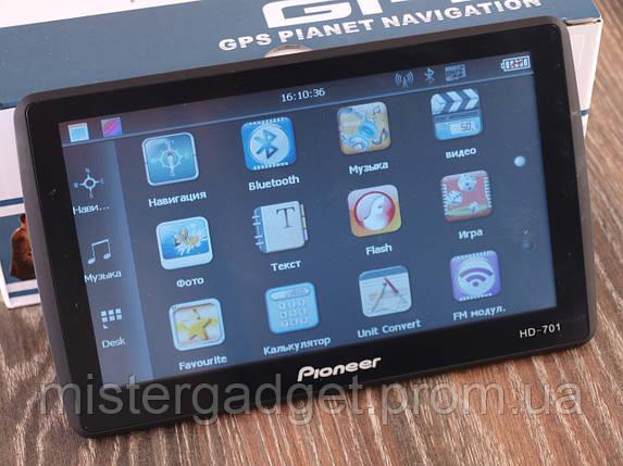 "Навигатор Pioneer 701 GPS 7"" FM-Модулятор Навител навигатор 701, фото 2"
