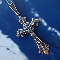 Серебряный крест с объемным распятием, 5,2 грамма