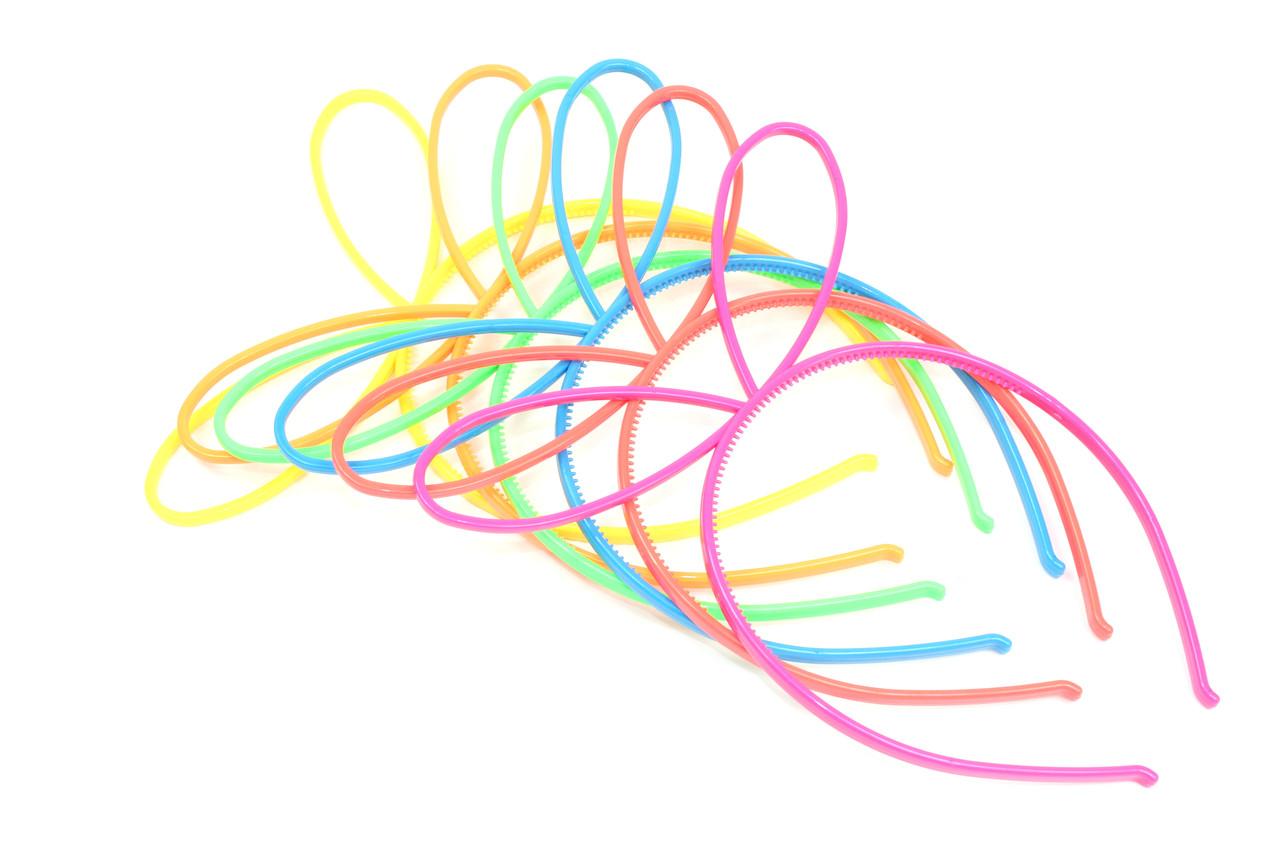Обруч с ушками Лунтика пластиковый 6 цветов