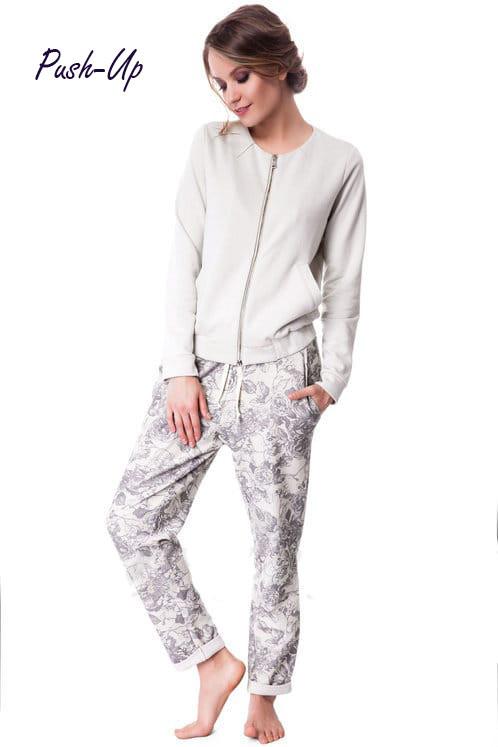 Женский хлопковый прогулочный костюм Suavite 351111 с принтом