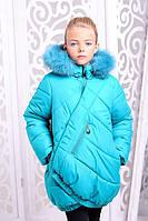 Зимняя детская  куртка для девочки Элма бирюза